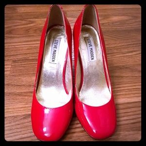 Steve Madden Red Patent Leather Heels